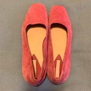 H&M Suede Ballet Flats